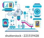 vector industrial illustration... | Shutterstock .eps vector #221519428