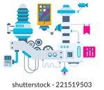 vector industrial illustration... | Shutterstock .eps vector #221519503