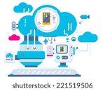 vector industrial illustration... | Shutterstock .eps vector #221519506