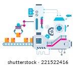 vector industrial illustration... | Shutterstock .eps vector #221522416