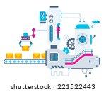 vector industrial illustration... | Shutterstock .eps vector #221522443