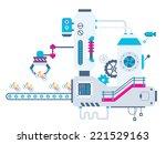 vector industrial illustration... | Shutterstock .eps vector #221529163