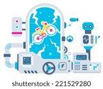 vector industrial illustration...   Shutterstock .eps vector #221529280