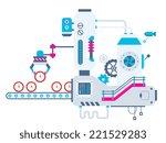 vector industrial illustration... | Shutterstock .eps vector #221529283