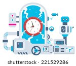 vector industrial illustration... | Shutterstock .eps vector #221529286