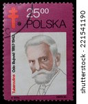 Small photo of POLAND- CIRCA 1982: A Stamp printed in the Poland shows Odo Bujvvid - the polish bacteriologist, public figure, circa 1982