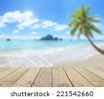 wooden paving and blurred the... | Shutterstock . vector #221542660