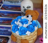 artificial flowers souvenir | Shutterstock . vector #221543326