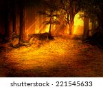 sunny forest lawn | Shutterstock . vector #221545633