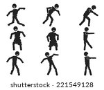 zombie stick figure set | Shutterstock .eps vector #221549128