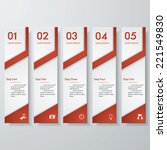 design clean number banners... | Shutterstock .eps vector #221549830