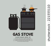 two stoves with gas vector... | Shutterstock .eps vector #221555110