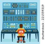 vector illustration of work... | Shutterstock .eps vector #221559319