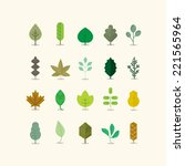 leaves collection | Shutterstock .eps vector #221565964