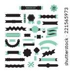 set of 30 unusual zig zag... | Shutterstock .eps vector #221565973