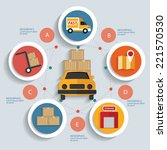 logistics concept info graphic... | Shutterstock .eps vector #221570530