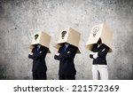 unrecognizable business people...   Shutterstock . vector #221572369
