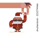 hand catch the santa claus's... | Shutterstock .eps vector #221574466
