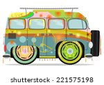 Funny Colorful Hippie Car....