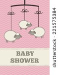 baby shower invitation ... | Shutterstock .eps vector #221575384