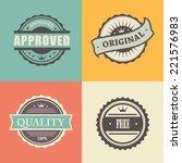 commercial stamps set in... | Shutterstock . vector #221576983
