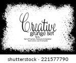 design template.abstract grunge ... | Shutterstock .eps vector #221577790