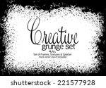 design template.abstract grunge ... | Shutterstock .eps vector #221577928