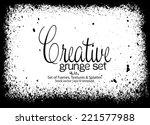 design template.abstract grunge ... | Shutterstock .eps vector #221577988
