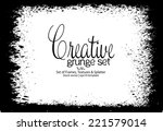 design template.abstract grunge ... | Shutterstock .eps vector #221579014