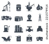 set of oil and gas grey icons...