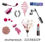 collection of various make up... | Shutterstock . vector #221583229