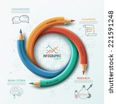 modern infographic template...   Shutterstock .eps vector #221591248