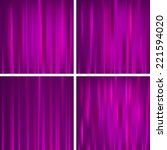 set of purple colored striped... | Shutterstock .eps vector #221594020