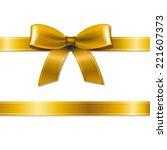 golden bow  | Shutterstock . vector #221607373