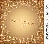 beautiful beige background with ... | Shutterstock .eps vector #221610724