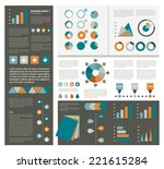 infographics set elements.... | Shutterstock .eps vector #221615284