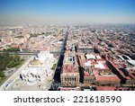 panorama of mexico city   Shutterstock . vector #221618590