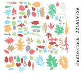 leaf collection   vector... | Shutterstock .eps vector #221619736