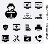 computer repairs icons | Shutterstock .eps vector #221630989