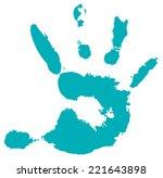 detail imprint of hand  vector... | Shutterstock .eps vector #221643898