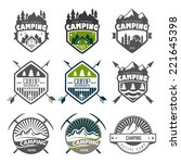 camping logo  labels and badges.... | Shutterstock .eps vector #221645398