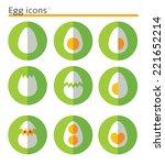 eggs. flat vector icon set in... | Shutterstock .eps vector #221652214