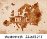 Map Of Europe In Old Style ...