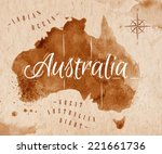 Map Of Australia In Old Style ...