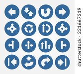 set of arrows icons isolated on ...