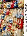 Traditional Dutch Clogs Wooden...