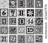 achromatic advent calendar...   Shutterstock .eps vector #221667976