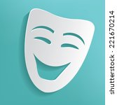 smile mask on blue background...