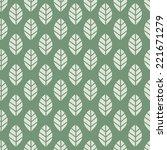 seamless pattern. leaf.... | Shutterstock .eps vector #221671279