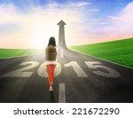 female student carrying... | Shutterstock . vector #221672290